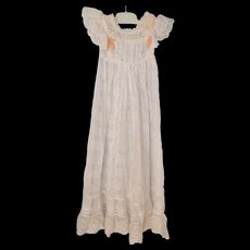 Vintage Christening Dress w/ Flowers