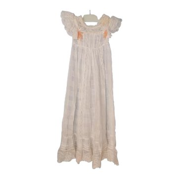 Vintage Christening Dress w/ Flowers