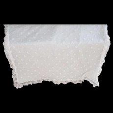 Vintage Christening Blanket (white)