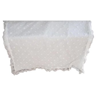 Vintage Christening Blanket (white)