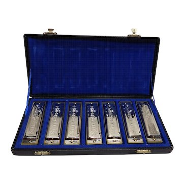 Vintage Toy 25th Anniv. Chicago Blues Harmonica Set
