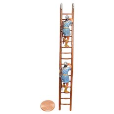 Vintage Elastolin Figure 40 mm Scaling ladder with Climbers Attackers