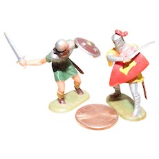 Vintage Elastolin Figure 40 mm Prince Arne vs Norman w/ sword