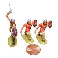 Vintage Elastolin Figure 40 mm 3- Norman Warriors