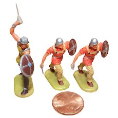 Vintage Elastolin Figure 40 mm 3- Norman Warriors