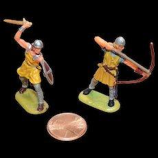 Vintage Elastolin Figure 40 mm Norman Archer and Swordsman
