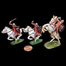 Elastolin Figure 40 mm (3) mounted Saxon Warriors