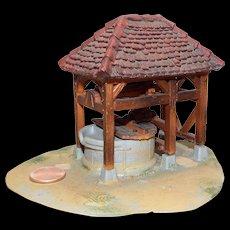 "Vintage Elastolin Norman Village ""The Well"" 40mm size."