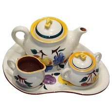 Stangl  Fruit Pattern Coffee Set w/ pot, sugar, creamer and tray