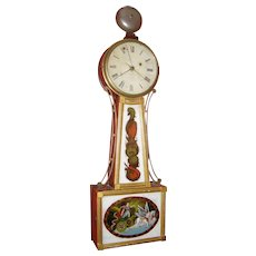 Banjo clock with alarm - Aaron Willard Jr