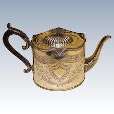 Victorian silver plated tea pot Ca 1840's