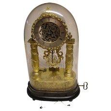 Vienna Skeleton music box clock