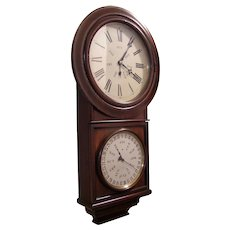 Welch, Spring & Co. Double dial perpetual calendar clock