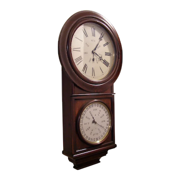 Welch, Spring & Co. Double dial perpetual calendar clock