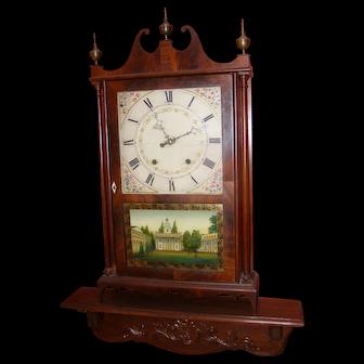 Eli & Samuel Terry Pillar and Scroll Clock
