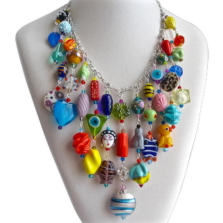 Eclectic Artisan Multicolored Bib Necklace