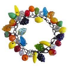 Glass Fruit Salad Artisan Bracelet