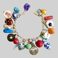 Eclectic Asian Inspired Charm Bracelet