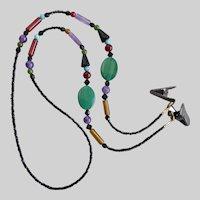 Jeweled Eyeglass Necklace of Fine Gemstones