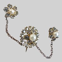 Very Vintage Scatter Pin Set, Paste and Faux Pearls