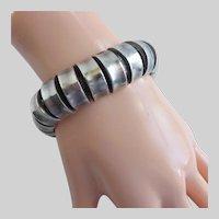 """Sterling Silver Hand Crafted Modernist Bracelet, 7 3/4"""", Unisex"""