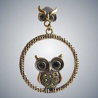 Double Owl Drop Earrings....Too Cute!