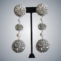 Disco Ball Silver Sequin Earrings