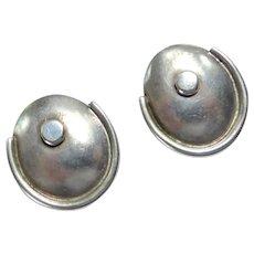 Very Vintage Mexican Sterling Silver Screw Back Earrings