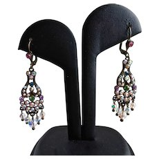 Sweet Sorrelli Signed Drop  Crystal AB Earrings