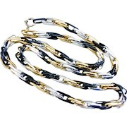 """Long Lightweight Mixed Metal Colors,  Aluminum Chain Necklace, 45"""""""