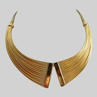 """Napier Gold Tone """"Collar"""" Choker Necklace"""