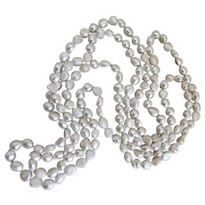 Long Freshwater Pearl Necklace, 62 Inches