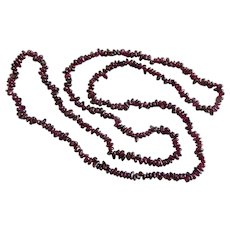 Tumbled Garnet Mini Nuggets Continuous Strand Necklace, 34 inches