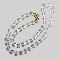"""DVF Diane von Furstenberg Clear Crystal necklace, 24.5"""""""