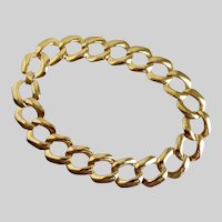 Sarah COVENTRY Large  Link Gold Tone Necklace