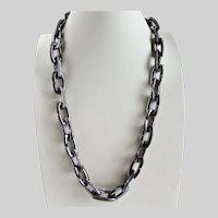 Chunky Runway Gunmetal Chain Necklace by  Vince Camuto, Unisex