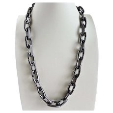 """VINCE CAMUTO Chunky Runway Gunmetal Chain Necklace, Unisex, 30"""""""