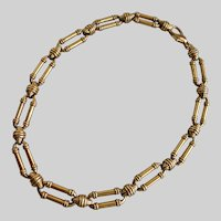 Link Choker in Deep Antiqued Gold Tone, 16.5""