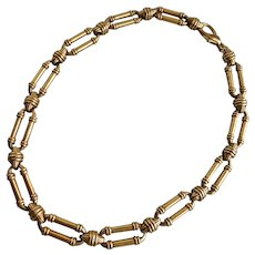 """Link Choker in Deep Antiqued Gold Tone, 16.5"""""""