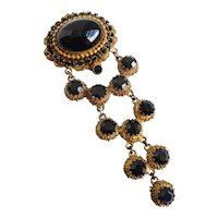 """""""ORIGINAL by ROBERT"""" Rare Vintage Signed Long Brooch Pin/Pendant, Articulated Drops"""