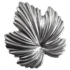 Sterling Silver JewelArt Maple Leaf Brooch Pin