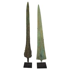 Bronze Spear Heads Ancient Persia