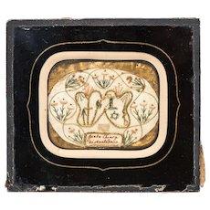 """Reliquary, a piece of cloth of """"Santa Chiara di Montefalco"""""""