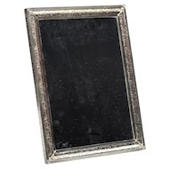Standing Silver Plated 1950's Mirror
