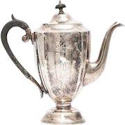 Silver plated tea pot