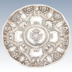 Portuguese Silver Tray with Family Crest