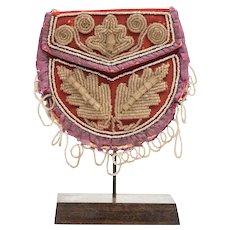 Iroquois Wool Beaded Bag