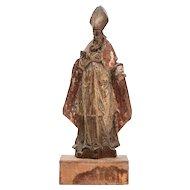 Italian Wood Carved Bishop