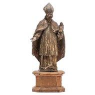 Italian wood carved saint