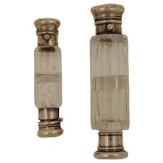 Unusual 19th Century French/English Double Ended Perfume/Scents Bottle, set of 2 pieces